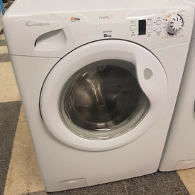 x469 white candy 8kg 1400spin A* washing machine comes with warranty can be delivered or collected
