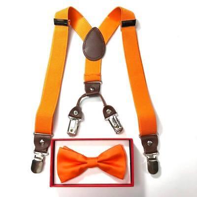 Neon Orange toddler bow tie & suspenders set Halloween Dress up for baby & boy](Neon Orange Suspenders)