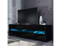 "Skylight TV Stand for TVs Up to 55"" - BLACK"