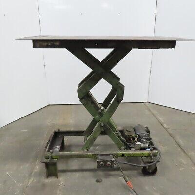 2000lb Hydraulic Scissor Lift Table 48-12x26 120v Single Phase
