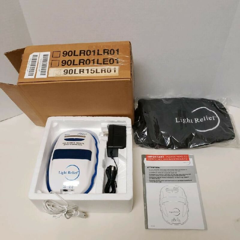 Light Relief Infrared Therapy Pain Relief Device + Original Box & Packing