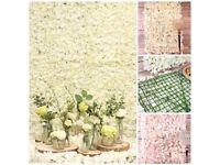 Cream flower wall