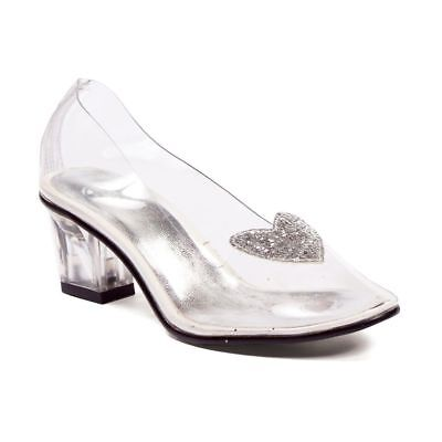 Clear Glass Slippers Princess Cinderella Costume Little Girls Shoes size 11 12