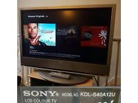 """Sony Bravia KDLS40A12U 40"""" LCD TV with Built-In Digital Freeview"""