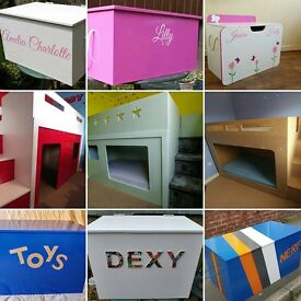 Play/bunk beds+ Toyboxes