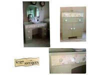 Vintage chic dressing table, stool and tallboy REDUCED - BARGAIN -
