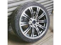 18 inch Polished & Concaved Bmw Alloy Wheels & Tyres (e36,e46,330,Mv2,M3,e60,e90,insignia,m3,m5,vw)
