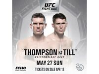 £190 FACE VALUE UFC LIVERPOOL FLOOR SEATING TICKETS