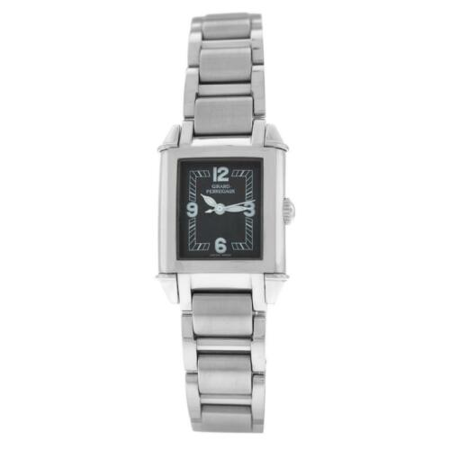 New Ladies Girard Perregaux Vintage Steel Ref 2591 Quartz 23MM Watch Papers