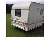 Bessacar 2 Berth Touring Caravan with Accessories, Good Condition, Very Clean
