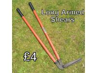 Garden Tools - Long armed shears