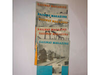 Railway Mgazine 6 copies 1963