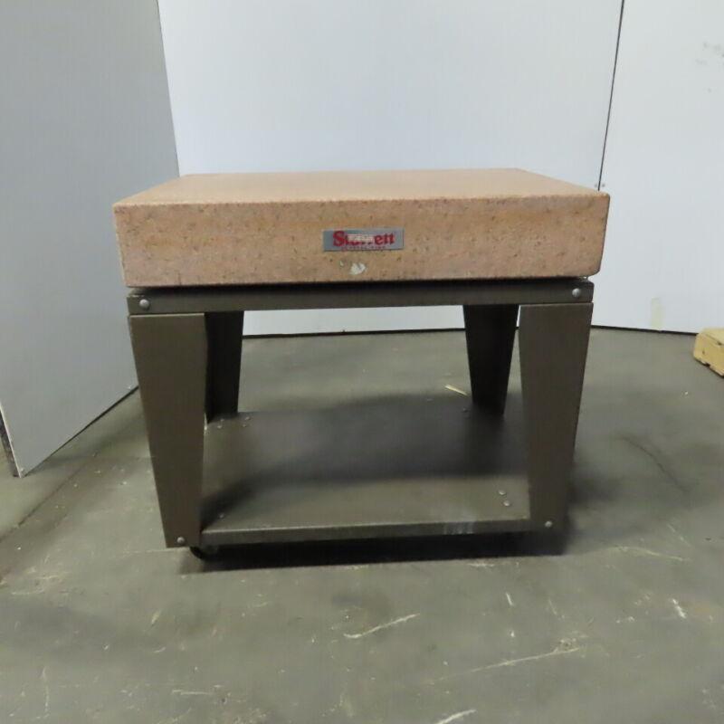 """Starrett 36""""x 24"""" x 6"""" Pink Granite Layout Surface Plate Tool Room Grade B"""