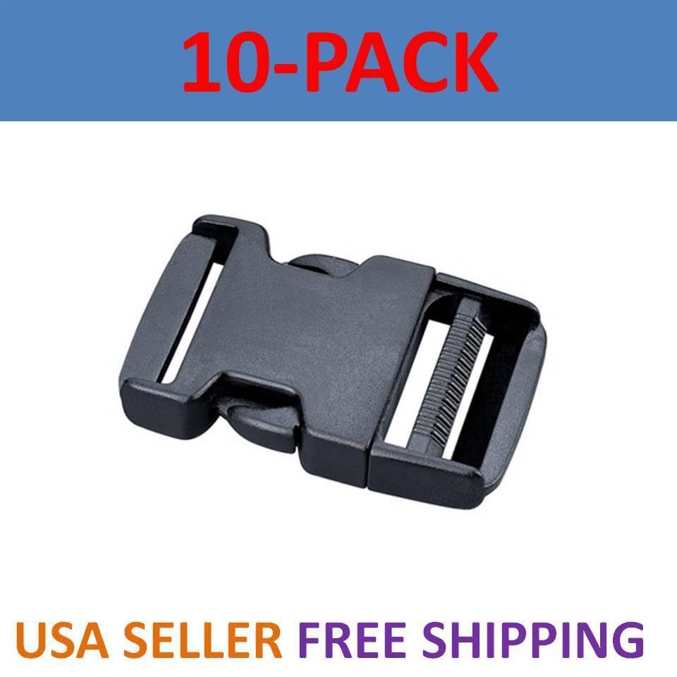 "10X 2 Inch Plastic Black Strap Webbing Side Release Buckle Clasp Craft 5 cm 2/"""