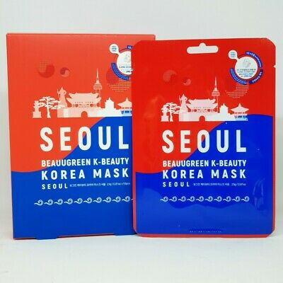 Beauugreen K-Beauty Korea Mask Seoul 23g x 10pcs Elasticity Brightening Soothing