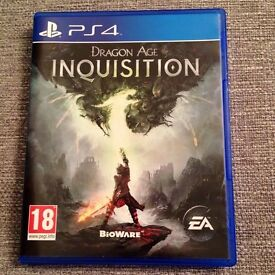 Dragon Age Inquisition PS4 Game - Excellent Condition