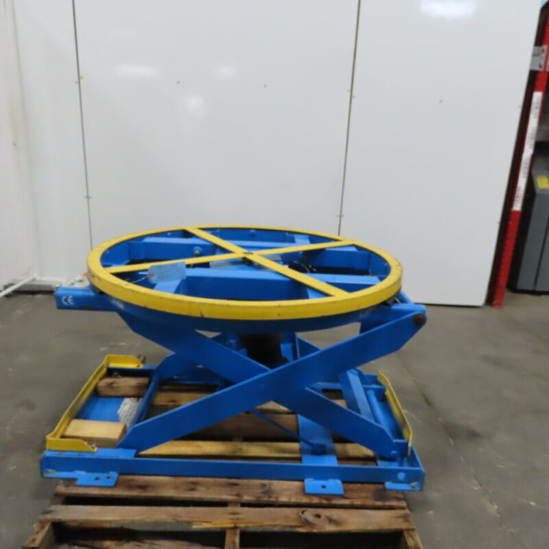 "Bishamon 3000lb Self Leveling Pneumatic Lift Table Pallet Positioner 9-30"" Ht"