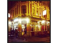Live in Assistant / Deputy Bar Manager for a true East London community pub