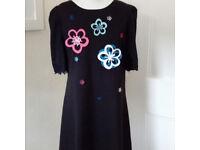 Floral little black dress UK size 10