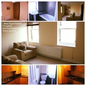 Modern flat for rent centre of Morpeth (Main Street)