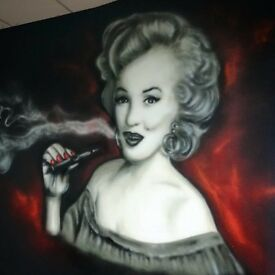 Bespoke mural artist for ,graffiti shop signs ,shutters,interiors ,bedrooms and many more ...