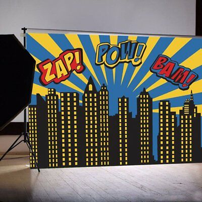 Backgrounds for Photo Studio Super Hero City Party Photography Backgrounds NC
