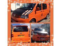 Orange VW T5 1.9 TDI Campervan