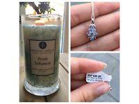 Genuine Gemstone Candle with Hidden Jewel
