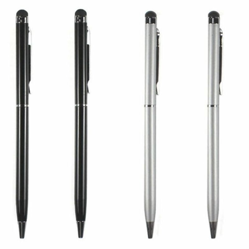 4X 2-in-1 Touch Screen Stylus + Ballpoint Pen For iPad iPhone Tablet Smartphone