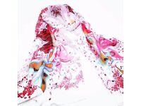 Pink retro fashion scarf