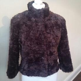 Cozy faux fur teddy jacket by Warehouse