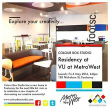 Colour Box Studio Residency Launch at VU at MetroWest Footscray Maribyrnong Area Preview