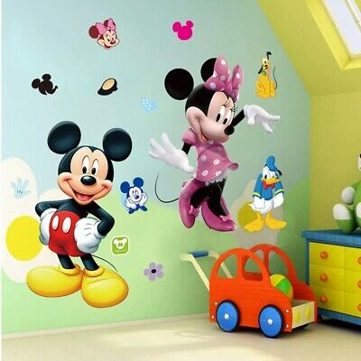 3D Wandtattoo Mickey Minnie Maus Sticker Kind Aufkleber Bild Deko Donald Tapete ()