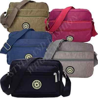 Messenger Bag Waterproof Cross Body Men Women Black Shoulder Utility Travel Work