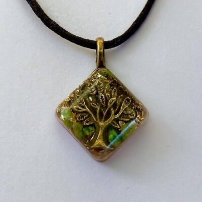 Orgone Pendant (Mother Earth) Healing Crystal Necklace Energy Meditation - Earth Mother Crystal Pendant