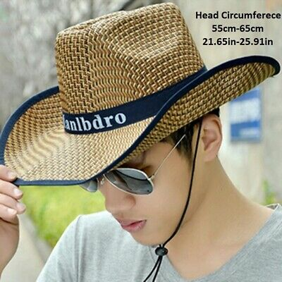 Summer Straw Hat Braided Sunhat Cowboy Hat For Man and Women ()