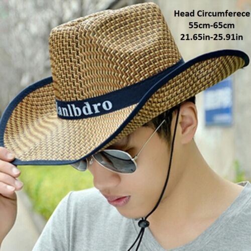 Summer Straw Hat Braided Sunhat Cowboy Hat For Man and Women Clothing, Shoes & Accessories