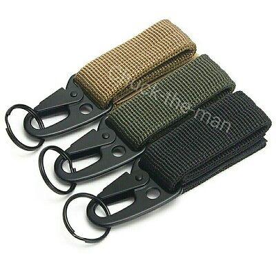 Tactical Military Belt Carabiner Key Holder Bag Hook Webbing Buckle Strap Clip