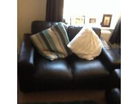 2 leather sofas, good condition, selling due to having a new sofa