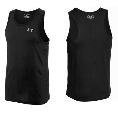 Under Armour Mens Streaker Singlet Gym Running Tank Top Vest Black 1271822 001