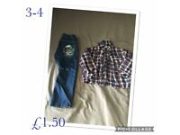 Boys clothes 3-4yrs to 5-6yrs