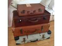 vintage suitcases ideal for shop display,wedding photography etc £30 each.