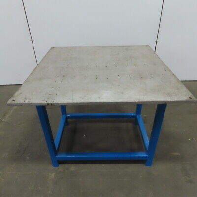 Custom Fab 40 X 40 X 34 Tall 34t Aluminum Top Assembly Welding Work Bench