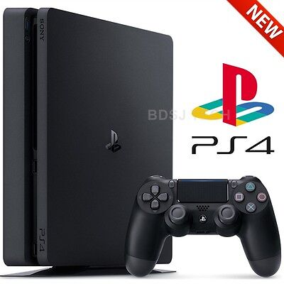 PlayStation 4 Slim 500GB Console - PS4 Black (Sony Retail - Latest Model)