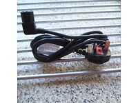 NEW RIGHT ANGLED mains cable, IEC (C13) to UK