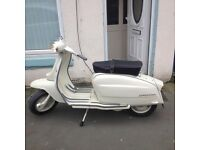 Lambretta li125. 200cc engine logged as 125cc mint condition