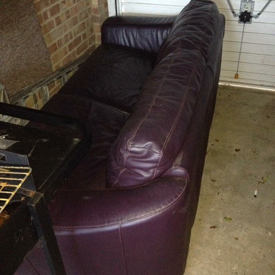 Metal action leather sofa bedin Peacehaven, East SussexGumtree - Metal action sofa bed Burgundy colourIs scratched from the dog we had it covered with a throw But works perfectly and would do someone a turnFree to collector Peacehaven