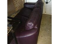 Metal action leather sofa bed