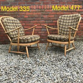 Vintage Ercol Windsor Armchairs