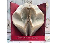 Linked hearts BookArt